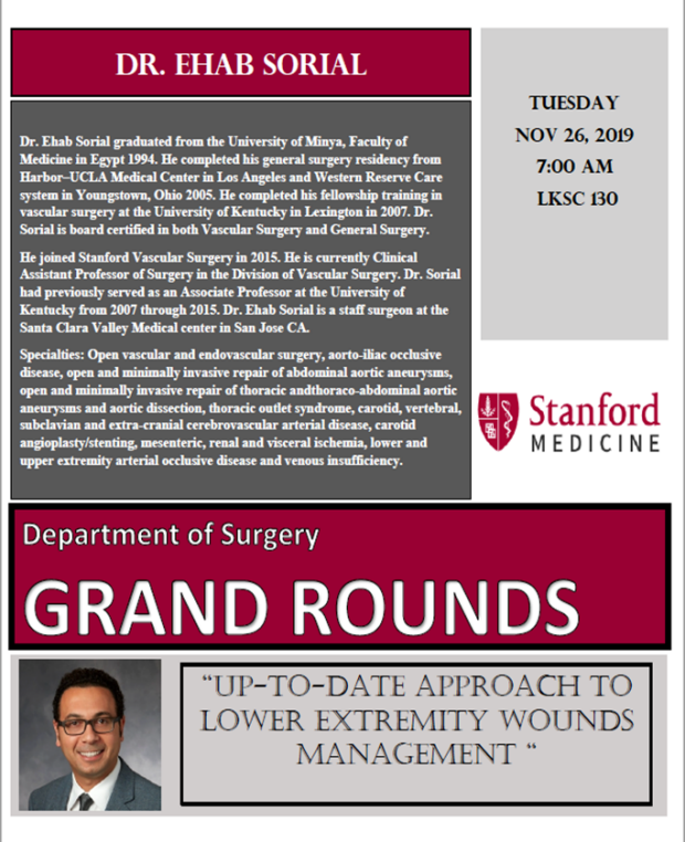 Surgery Grand Rounds December Ehab Sorial, MD