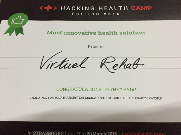 Virtual Rehab Award